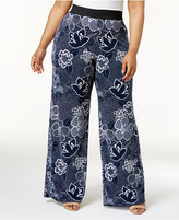 Alfani Plus Size Printed Palazzo Pants, Only at Macy's