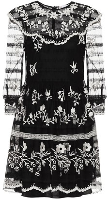 RED Valentino embroidered tulle minidress
