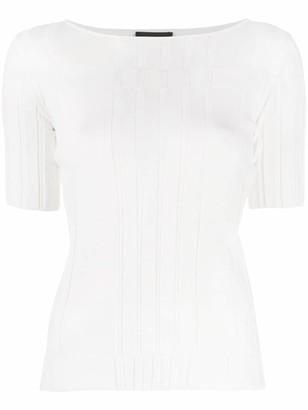 Emporio Armani boat neck T-shirt