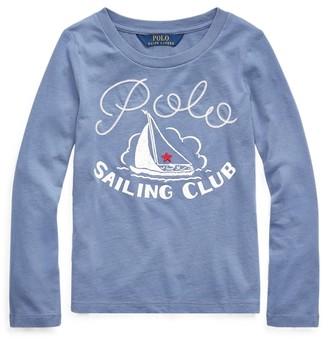 Ralph Lauren Sailing Club Cotton Jersey Tee