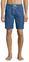 Peter Millar Bamboo Interlock Swim Trunks, Blue