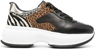 Hogan Animal Print Platform Sneakers