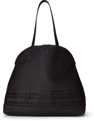 Street Level Black Whipstitch Shoulder Bag