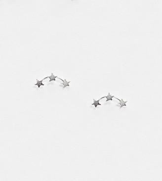Kingsley Ryan ear climber earrings in sterling silver mini star