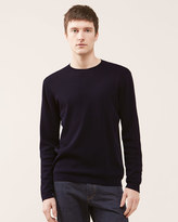 Fine Gauge Cotton Ottoman Crew Neck