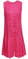 Dolce & Gabbana Pleated Corded Lace Dress