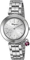 Salvatore Ferragamo Women's FIC020015 Intreccio Analog Display Quartz Silver Watch