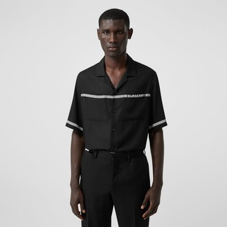 Burberry Short-sleeve Logo Print Twill Shirt