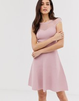 French Connection Rose fit and flare knit dress