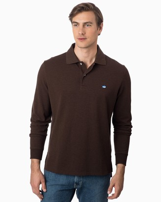 Southern Tide Heathered Skipjack Long Sleeve Polo Shirt