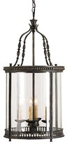 The Well Appointed House Wrought Iron and Glass Lantern in French Black - ON BACKORDER - CALL FOR AVAILABILITY