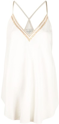 Forte Forte Lame-Trimmed Camisole