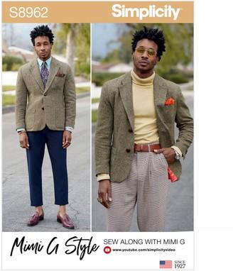 Simplicity Mimi G Style Men's Blazer Jacket Sewing Pattern, 8962
