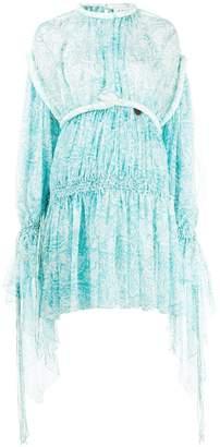 Lanvin Flowing Printed Short Dress