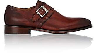 Barneys New York Men's Leather Monk-Strap Shoes - Brown
