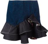 Alexander McQueen floral ruffled mini skirt - women - Cotton - 40