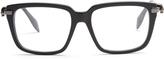 Alexander McQueen Square-frame side-skull glasses