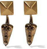 Valentino Hammered Gold-plated Earrings - one size