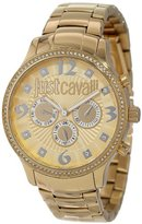 Just Cavalli Women's R7253127512 Huge Yellow Gold Ion-Plated Coated Stainless Steel Swarovski Crystal Watch