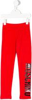 Moschino Kids - logo leggings - kids - Cotton/Spandex/Elastane - 4 yrs