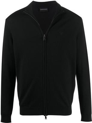 Emporio Armani Knitted Fleece Cardigan
