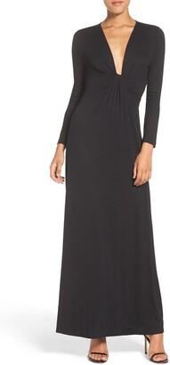 Fraiche by J Jersey Plunge Gown