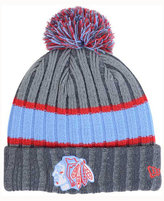 New Era Chicago Blackhawks Stripe Chiller Pom Knit Hat