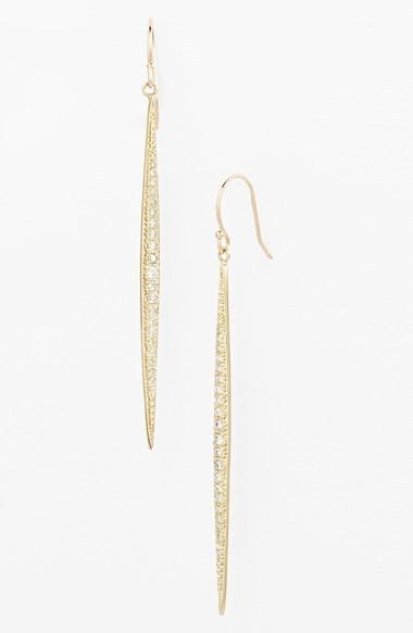 Mizuki 'Icicles' Pavé Diamond Linear Earrings