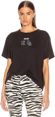 R 13 Check All That Apply Boy Tee in Washed Black   FWRD