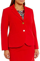 Calvin Klein Plus Luxe Stretch Two-Button Suit Jacket
