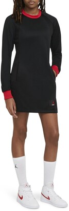 Jordan Long Sleeve Sweatshirt Minidress