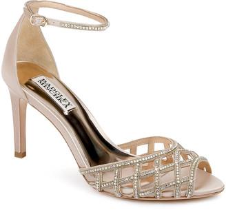Badgley Mischka Rain Crystal Satin Ankle-Strap Sandals