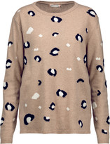 Chinti and Parker Leopard intarsia-knit merino wool and cashmere-blend sweater