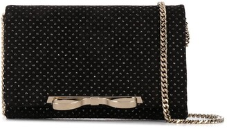RED Valentino Embroidered Polka Dot Bow-Detail Crossbody Bag