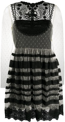 RED Valentino Lace Tiered Tulle Dress