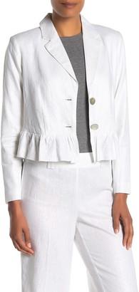 Nanette Nanette Lepore Shimmer Linen Long Sleeve Jacket