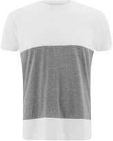 Folk Men's Colour Block TShirt - White/Grey