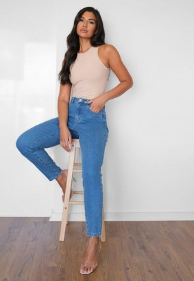 Missguided Highwaisted Comfort Stretch Mom Jeans
