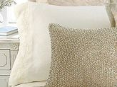 Martha Stewart Meadow Drift Pair Standard Pillowcases Embroidered Ivory