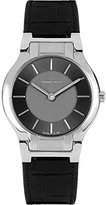 Pierre Petit Women's P-799A Serie Laval Black and Silver Dial Genuine Leather Watch