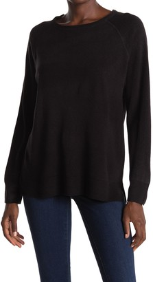 Sweet Romeo Ribbed Raglan Sleeve Pullover Sweater