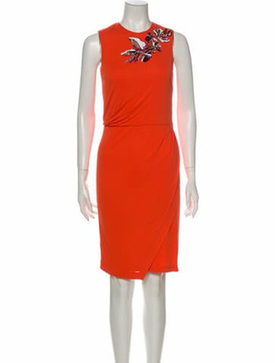 Emilio Pucci Crew Neck Knee-Length Dress Orange