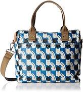 Orla Kiely Poppy Cat Print Zip Messenger Convertible Shoulder Bag