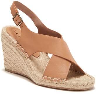 Bettye Muller Slingback Wedge Leather Sandal