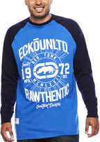 Ecko Unlimited Unltd. Elevation Long-Sleeve Raglan T-Shirt- Big & Tall