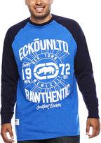 Ecko Unlimited Unltd. Elevation Long-Sleeve Raglan T-Shirt- Big & Tall