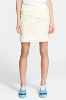 Julien David Stripe Cross Woven Skirt