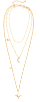 Rebecca Minkoff Stargazing Layered Delicate Necklace