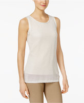 Calvin Klein Metallic Sweater Shell