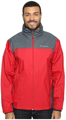 Columbia Glennaker Laketm Rain Jacket (Mountain Red/Graphite) Men's Coat